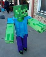 Minecraft Zombie Homemade Costume