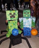 Minecraft Zombie & Creeper Jockey Homemade Costume