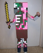 Minecraft Zombie Pigman Homemade Costume