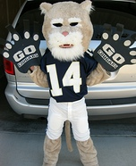 Homemade Cougar Mascot Costume for Boys