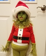 Mini Grinch Homemade Costume