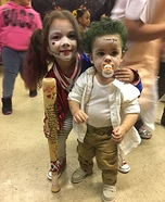 Mini Harley Quinn & the Joker Homemade Costume