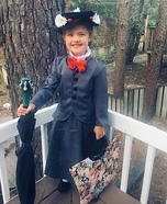 Miniature Mary Poppins Homemade Costume