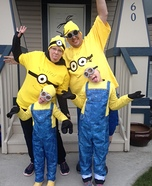 Minion Family Homemade Costume