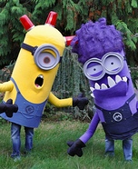 Trio of Minions from Despicable Me Group Costume