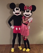 Minnie and Mickey Mouse Homemade Costume