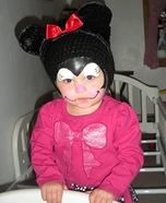 Homemade Minnie Mouse Baby Costume