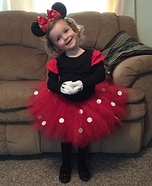 Minnie Mouse Girl Homemade Costume