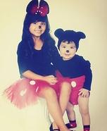 Minnie & Mickey Homemade Costume