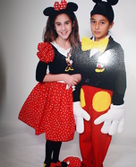 Minnie & Mickey Mouse Homemade Costume