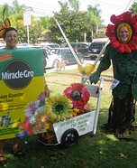 Costume ideas for pets and their owners: Miracle Grow & Flowers Costume