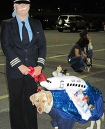 Costume ideas for pets and their owners: Miracle On the Hudson Dog Costume