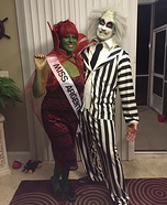 Miss Argentina and Beetlejuice Homemade Costume