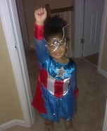 Miss Captain America Costume for Girls