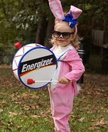Miss Energizer Bunny Homemade Costume