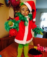 Miss Grinch Baby Homemade Costume