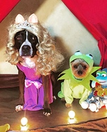 Miss Piggy & Kermit Dogs Homemade Costume