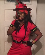 Mizz Fire Gal Homemade Costume