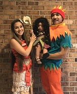 Moana and Crew Homemade Costume