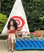 Moana and her Boat Homemade Costume