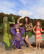 Moana Family Homemade Costume
