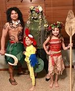 Moana Family Homemade Costume