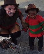 Momma Krueger and Baby Krueger Homemade Costume