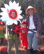 Mommy Flower and Baby Ladybug Homemade Costume