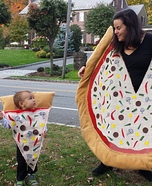 Mommy Pizza Pie and Baby Slice Homemade Costume