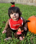Homemade Monchhichi Costume
