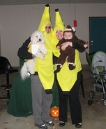 Monkey and a Bunch of Bananas Homemade Costume