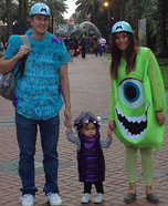 Monsters Inc Movie Family Costume