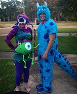 Pregnant couples costume ideas - Monsters Inc. Family Costume