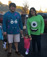Easy DIY Monsters Inc. Family Costume