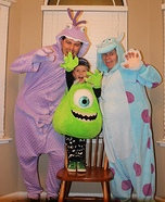 Creative Monsters Inc Family Costume