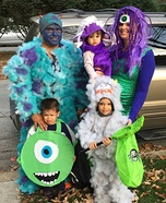 Coolest Monsters Inc Family Costume