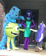 Monsters Inc. Family Homemade Costume