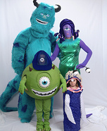 Family costume ideas - Monsters Inc Family Costume