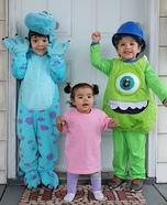 Monsters Inc Kids Homemade Costume