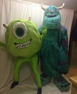 Monsters Inc. Sully and Mike Couple Homemade Costume