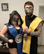 Mortal Kombat Couple Homemade Costume