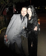Morticia and Gomez Addams Homemade Costume