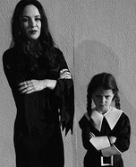Morticia and Wednesday Addams Costumes