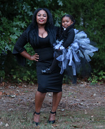 Morticia & Wednesday Addams Homemade Costume