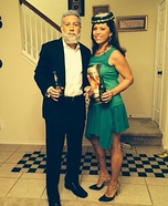 Most Interesting Man and Dos Equis Bottle Homemade Costume