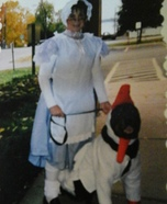 Mother Goose, with her Goose Homemade Costume
