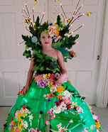 Mother Nature Girl's Homemade Costume