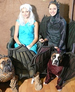 Costume ideas for pets and their owners: Mother of Dragons Costume