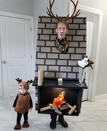 Mounted Deer Head Trophy Homemade Costume