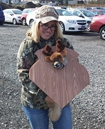 Costume ideas for pets and their owners: Mounted Deer Trophy Costume